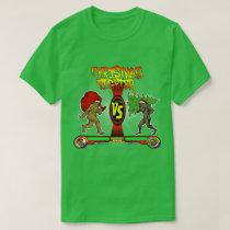Bigfoot Christmas Fighter Funny Gamer Xmas T-Shirt
