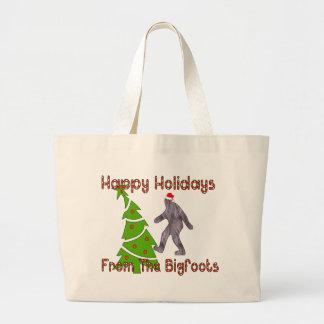 Bigfoot Christmas Large Tote Bag