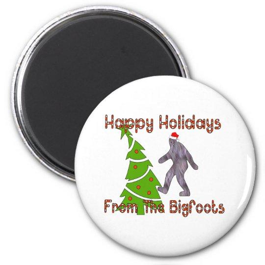 Bigfoot Christmas Magnet