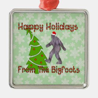 Bigfoot Christmas Metal Ornament