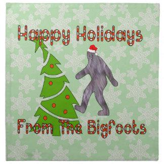 Bigfoot Christmas Cloth Napkin