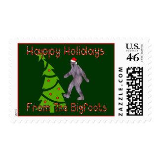 Bigfoot Christmas Stamps