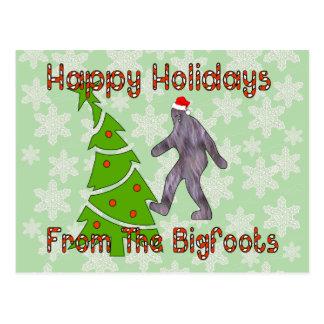 Bigfoot Christmas Postcard