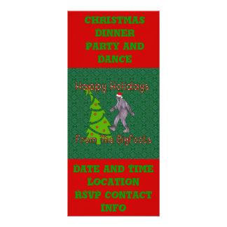 Bigfoot Christmas Rack Card