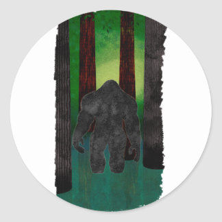 bigfoot classic round sticker