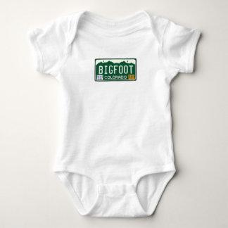 Bigfoot Colorado License Plate Baby Bodysuit