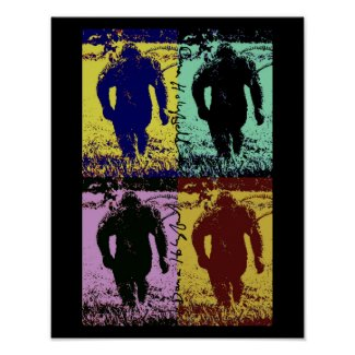 Bigfoot comes in many shades poster