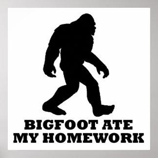 Bigfoot comió mi preparación posters