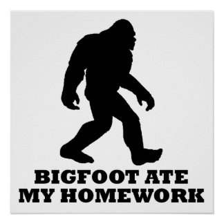 Bigfoot comió mi preparación póster