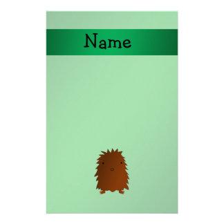Bigfoot conocido personalizado - verde del sasquat  papeleria