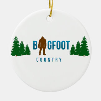 Bigfoot Country Ceramic Ornament