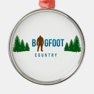 Bigfoot Country Metal Ornament