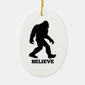 Bigfoot CREE Sasquatch Adorno Ovalado De Cerámica