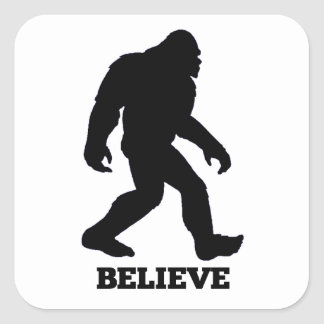 Bigfoot CREE Sasquatch Pegatina Cuadrada