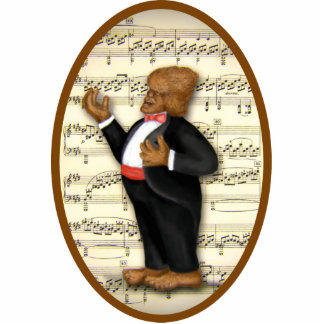 Bigfoot Croons the Classics Cryptid Style Ornament Cut Out