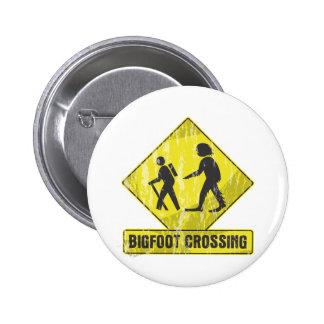 Bigfoot Crossing 2 Inch Round Button