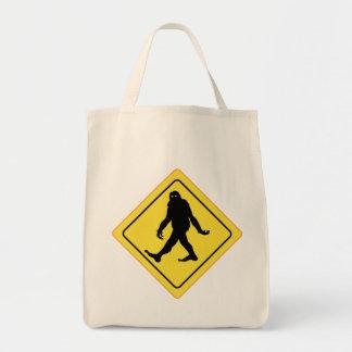 Bigfoot Crossing Grocery Tote Bag