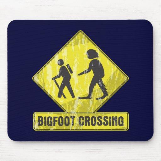 Bigfoot Crossing Mousepads
