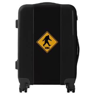 Bigfoot Crossing Sign Luggage