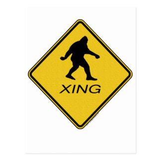 Bigfoot Crossing Sign Post Card