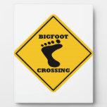 Bigfoot Crossing Street Sign Display Plaques