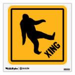 Bigfoot Crossing Traffic Sign Room Stickers