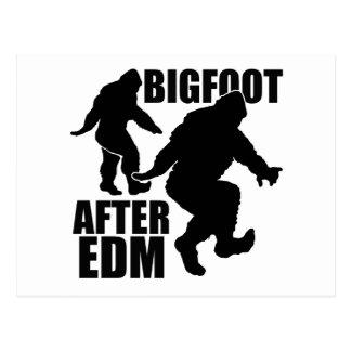 Bigfoot después de EDM Tarjeta Postal