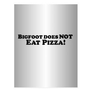 Bigfoot does NOT eat Pizza - Basic Postcard