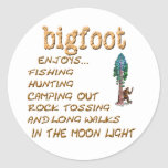Bigfoot Doesn't Round Sticker