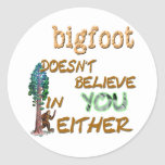 Bigfoot Doesn't Sticker