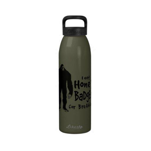 Bigfoot eats Honey Badgers for Breakfast Reusable Water Bottle