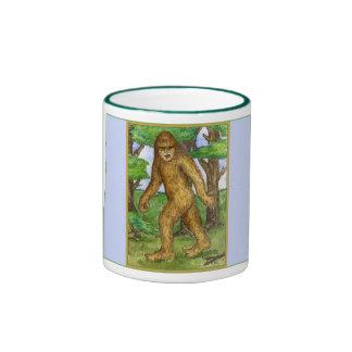 Bigfoot en la taza de maderas