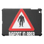 Bigfoot en señal de peligro del área