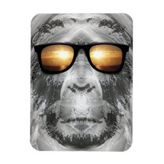 Bigfoot en sombras rectangle magnet