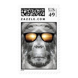 Bigfoot en sombras sellos postales