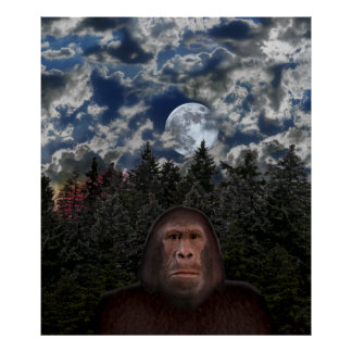 Bigfoot Encounter - Re-Sizable Poster