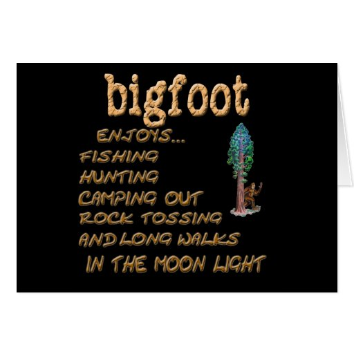 Bigfoot Enjoys Greeting Cards