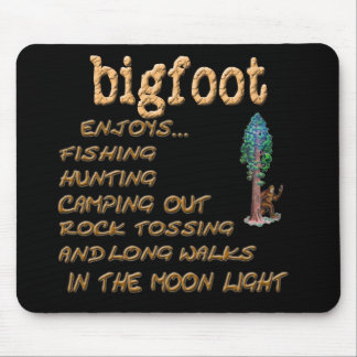Bigfoot Enjoys Mouse Pad