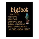 Bigfoot Enjoys Post Card