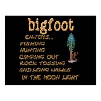 Bigfoot Enjoys Postcard