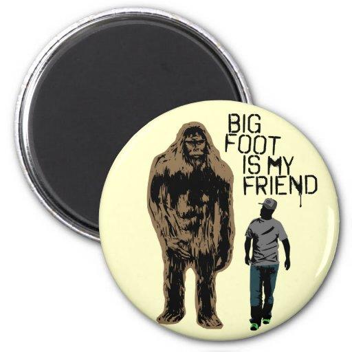 Bigfoot es mi amigo imán de frigorífico