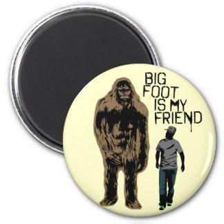 Bigfoot es mi amigo imán redondo 5 cm