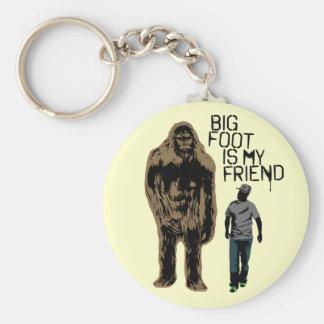 Bigfoot es mi amigo llavero redondo tipo pin
