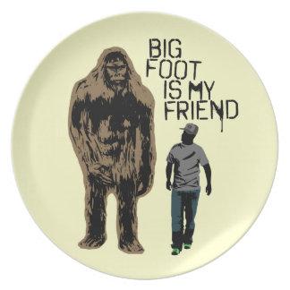 Bigfoot es mi amigo platos de comidas