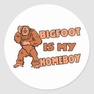 Bigfoot es mi Homeboy Pegatina Redonda