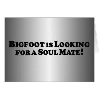Bigfoot está buscando a un compañero del alma - bá tarjeta