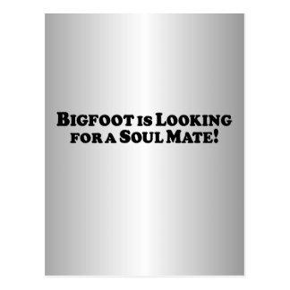Bigfoot está buscando a un compañero del alma - bá tarjetas postales