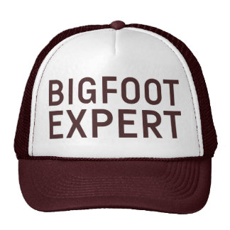 BIGFOOT EXPERT slogan hat