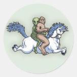 Bigfoot, extranjero, unicornio pegatinas redondas