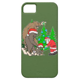 Bigfoot family  and Santa iPhone SE/5/5s Case